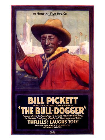 Bill Pickett the Bull-Dogger Giclee-trykk