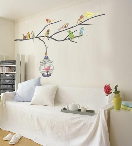 Birds in Tree Veggoverføringsbilde