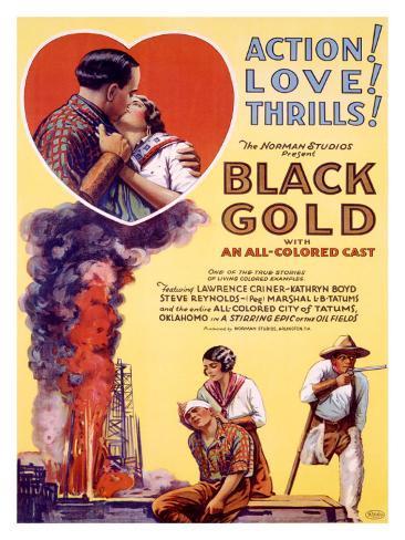 Black Gold Giclée-tryk