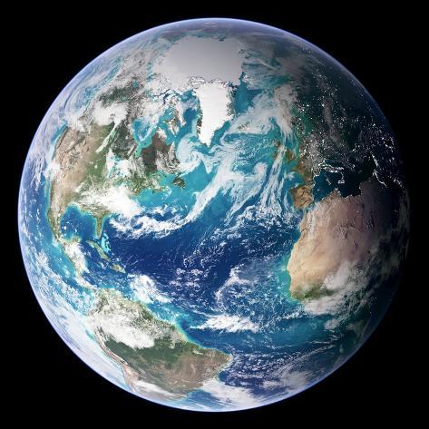 Blue Marble Image of Earth (2005) Fotografisk trykk