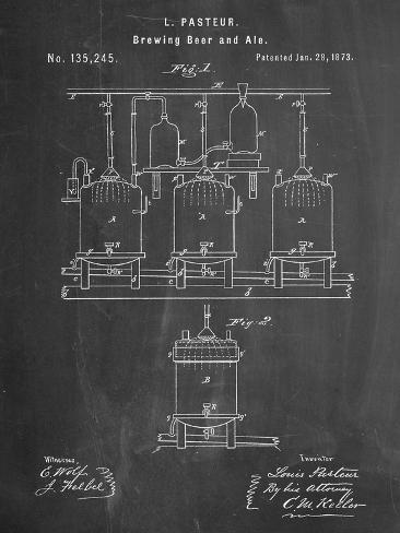 Brewing Beer Patent Kunsttryk