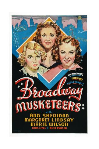 Broadway Musketeers Giclee-trykk