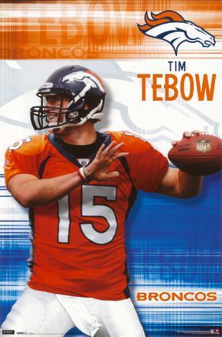 Broncos - Tim Tebow Plakat