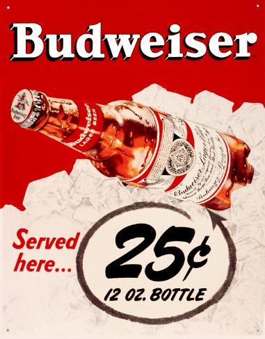 Budweiser 25 Cents Blikskilt