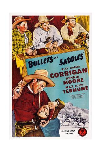 Bullets and Saddles Giclee-trykk
