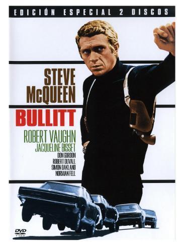 Bullitt, Spanish Movie Poster, 1968 Kunsttryk