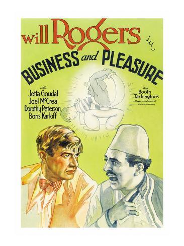 Business and Pleasure Kunsttrykk