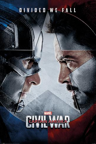 Captain America Civil War- Face Off Plakat