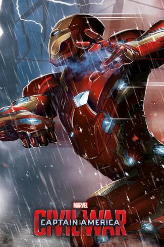 Captain America Civil War- Iron Man Plakat