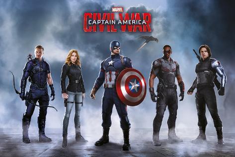 Captain America Civil War- Team Captain America Plakat