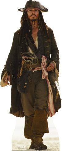 Captain Jack Sparrow Lifesize Standup Papfigurer