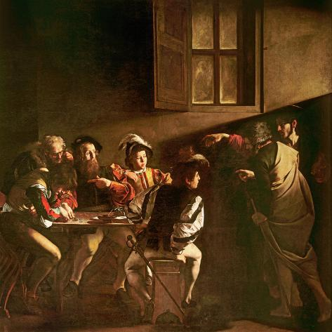 The Calling of St. Matthew, C.1598-1601 Giclée-tryk