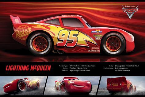 Cars 3 - (Lightning Mcqueen Stats) Plakat