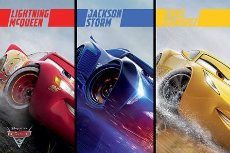 Cars 3 - Split Plakat