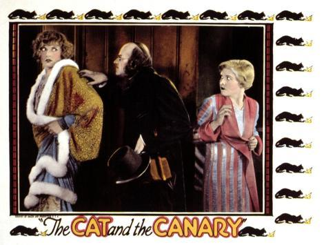 Cat And the Canary, Gertrude Astor (Left), Lucien Littlefield, Laura La Plante (Right), 1927 Foto