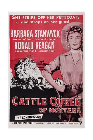 Cattle Queen of Montana Giclee-trykk