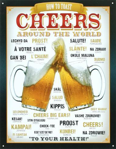 Cheers Around The World Beer Blikskilt