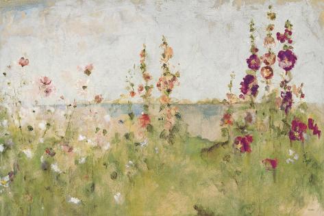 Stokkroser ved sjøen Kunsttrykk