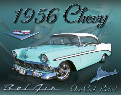 Chevy 1956 Bel Air Blikskilt