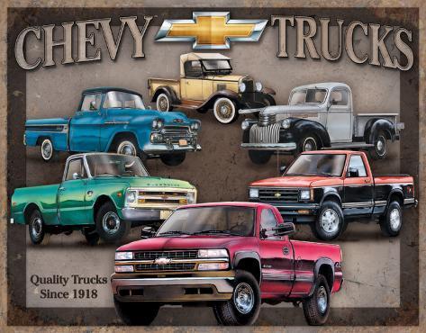 Chevy Truck Tribute Blikskilt