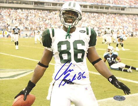 Chris Baker Autographed White Jersey Close Up Foto