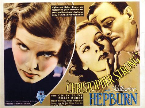 Christopher Strong, Katharine Hepburn, Colin Clive, 1933 Foto
