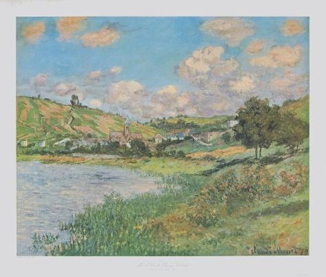Landscape near Vetheuil Samletrykk