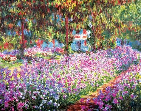 The Artist's Garden at Giverny, ca. 1900 Kunsttryk
