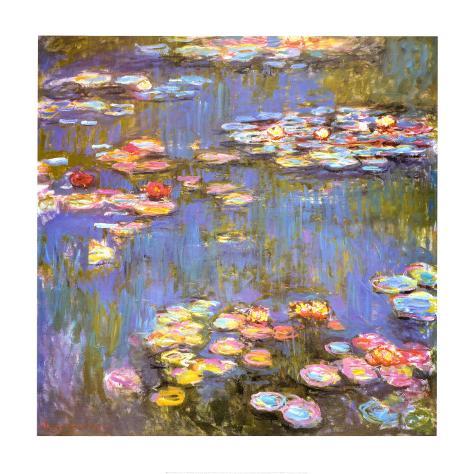 Vannliljer, 1916 Kunsttrykk
