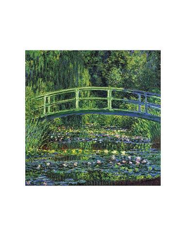 Water Lily Pond, c.1899 (blue) Kunsttryk