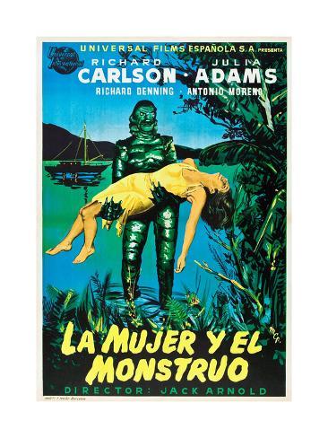 Creature from the Black Lagoon (aka La Mujer Y El Monstruo) Kunsttrykk
