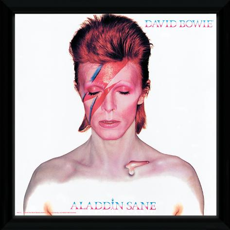David Bowie - Aladdin Sane Framed Album Art Samletrykk