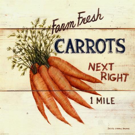 Farm Fresh Carrots Kunsttryk