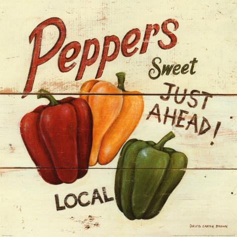 Sweet Peppers Kunsttryk