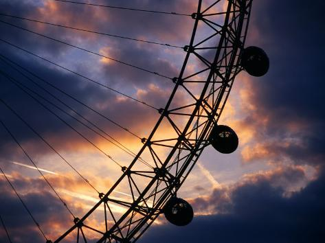 Detail of London Eye at Sunset, London, United Kingdom Fotografisk trykk