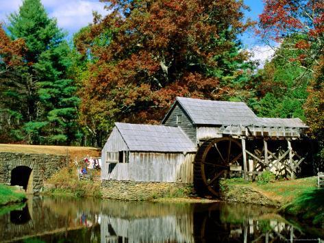 Mabry Mill Near Meadows of Dan Fotografisk trykk