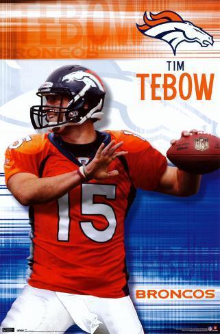 Denver Broncos - Tim Tebow Plakat