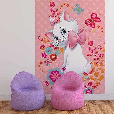 Disney Aristocats - Marie with Butterfly - Vlies Non-Woven Mural Ikke-vevd (vlies) tapetmaleri