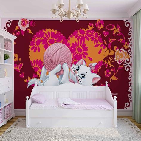 Disney Aristocats - Marie with Yarn - Vlies Non-Woven Mural Ikke-vevd (vlies) tapetmaleri