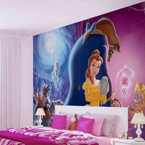 Disney - Beauty and the Beast - Vlies Non-Woven Mural Ikke-vevd (vlies) tapetmaleri