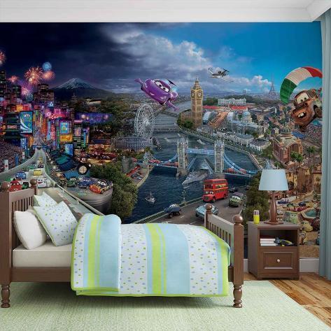 Disney Cars - Lightning & Mater Over London - Vlies Non-Woven Mural Vlies-vægplakat