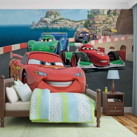 Disney Cars - Lightning McQueen and Francesco Bernoulli - Vlies Non-Woven Mural Ikke-vevd (vlies) tapetmaleri