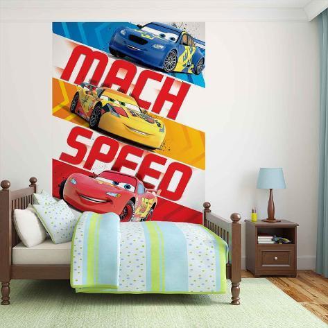 Disney Cars - Lightning McQueen Mach Speed - Vlies Non-Woven Mural Vlies-vægplakat