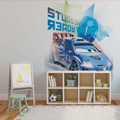 Disney Cars - Raoul CaRoule Ready to Go - Vlies Non-Woven Mural Ikke-vevd (vlies) tapetmaleri