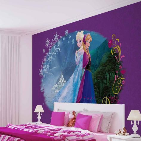 Disney Frozen - Elsa & Anna - Vlies Non-Woven Mural Ikke-vevd (vlies) tapetmaleri