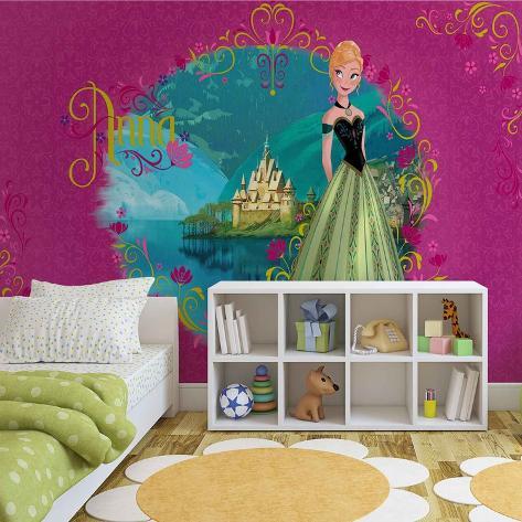 Disney Frozen Fever - Anna - Vlies Non-Woven Mural Ikke-vevd (vlies) tapetmaleri