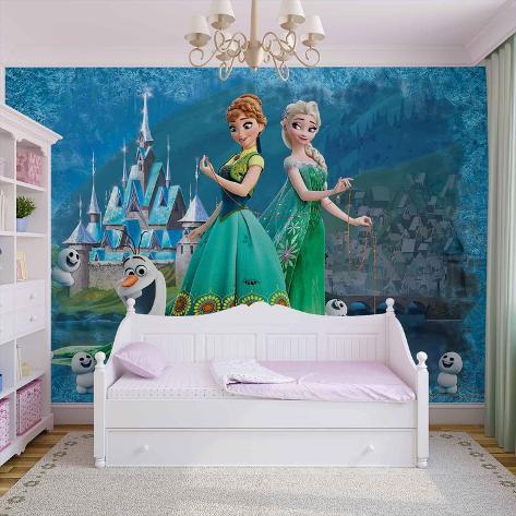 Disney - Frozen Fever - Vlies Non-Woven Mural Ikke-vevd (vlies) tapetmaleri