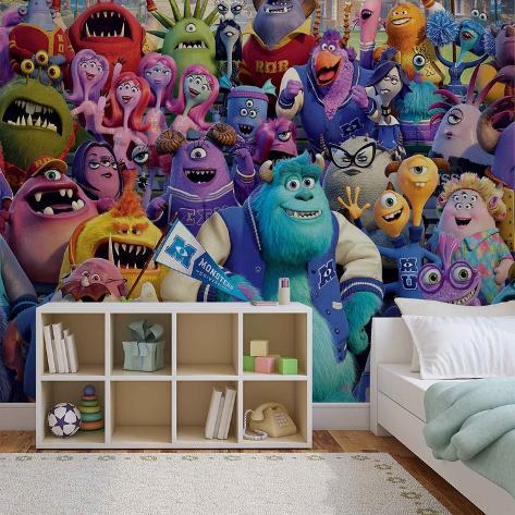 Disney Monsters Inc. - Group - Vlies Non-Woven Mural Ikke-vevd (vlies) tapetmaleri