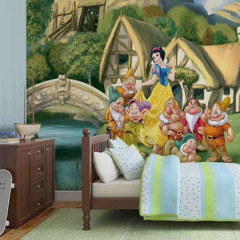 Disney Snow White - Seven Dwarves Cottage - Vlies Non-Woven Mural Ikke-vevd (vlies) tapetmaleri