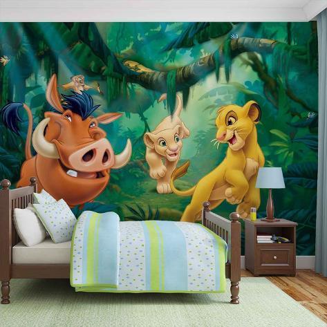 Disney The Lion King - Group - Vlies Non-Woven Mural Ikke-vevd (vlies) tapetmaleri